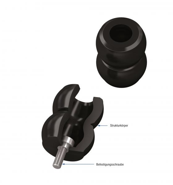 Die Maschinenelemente von ACE sind mit Durchmessern zwischen 64 und 176 mm gut in Konstruktionen zu integrieren und lassen sich, wie in diesem Fall, nach Maß modifizieren