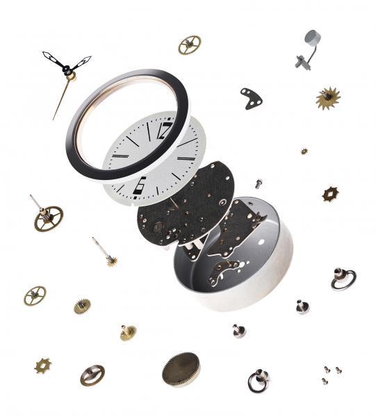 Die Uhrenindustrie bietet ein weites Arbeitsfeld für die Mikrobearbeitung. Dank moderner Hybridmaschinen wie der Cincom L20, die Präzisionsdrehen und Lasertechnologie kombinieren, verlieren solche Bauteile für den Zerspaner ihren Schrecken.