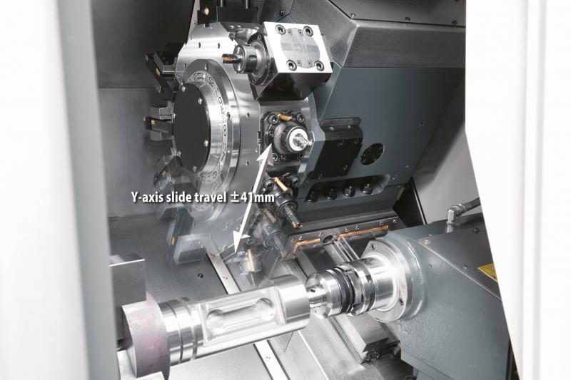 Die kompakt gebauten 1-Revolver-Drehmaschinen, werden im Standard mit angetriebenen Werkzeugen und einer Y-Achse ausgestattet…