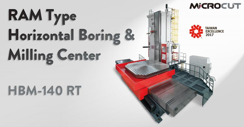 RAM-type horizontal boring and milling center with high tensile strength column structure and the ram-type spindle.