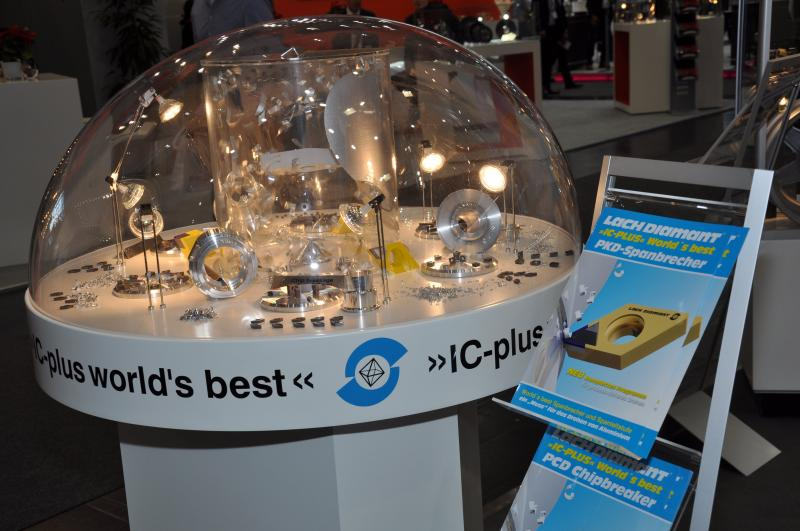 PCD chip breaker »IC-plus« world's best – process reliable turning of aluminium alloys