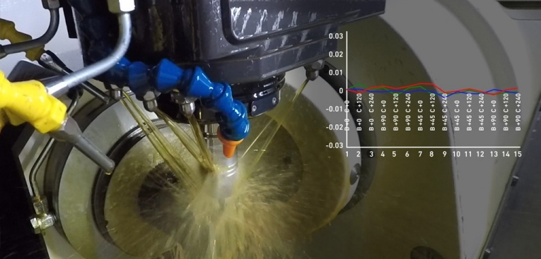The AMC cycle (software and hardware) has been developed internally and allows manufacturers to calibrate their Milling machine faster and more easily. Select the AMC cycle and let the program run to recalibrate the machine and recover overall precision.