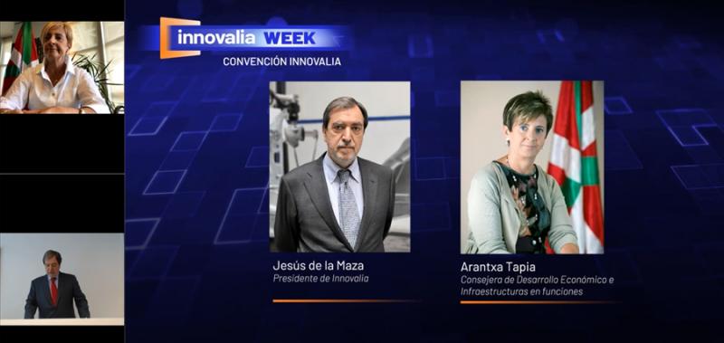 Jesús de la Maza y Arantxa Tapia durante su conversación acerca de las pymes, digitalización y nuevas oportunidades industriales.