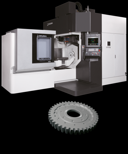 The focus of the MU-8000V is on reducing work steps and setup times. Complete machining of the component is demonstrated on a machine using a turbine disc as an example. Here, guests will witness the use of PAGODE milling cutters, 2.5D milling, 5-axis drilling, deburring and feature machining.