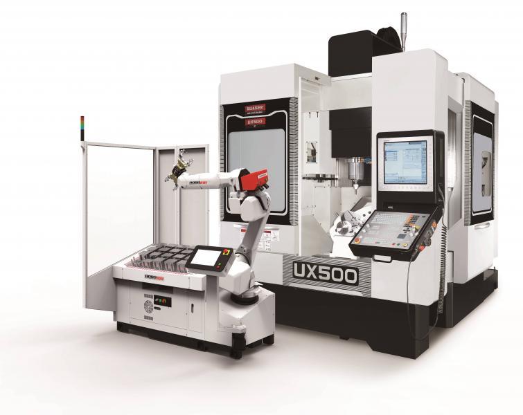 Mit dem Mill-Assist Essential der Automationsprofis von RoboJob bietet die Hommel Unverzagt die perfekte Erweiterung der Maschine für automatisierte Anwendungen an.