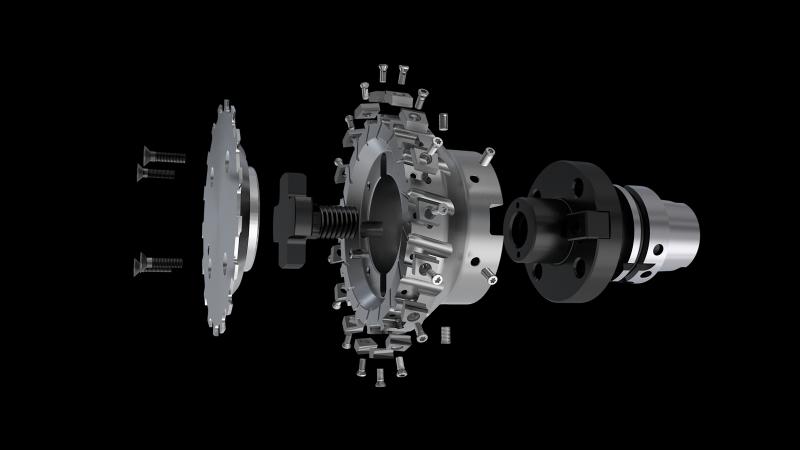 Der MaxiMill SEC12 bietet überdurchschnittliche Standzeiten, modularen Werkzeugaufbau aus Standardprodukten, keinen Einstellaufwand dank 100% Plug and Play und ermöglicht somit kompromissloses Planfräsen von Zylinderköpfen und Kurbelgehäusen.