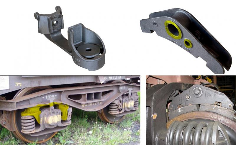 Examples of rail components which can be machined with Dormer Pramet's standard indexable milling tools.