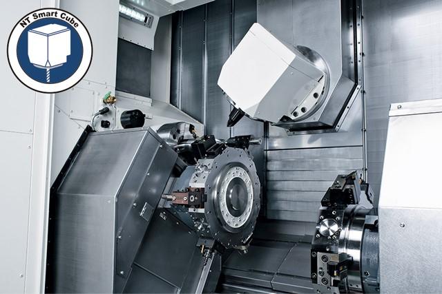 Der NT-Smart Cube wird von einem leistungsstarken 22 kW Motor angetrieben und kann im Standard mit bis zu 12.000 min-1 fräsen.