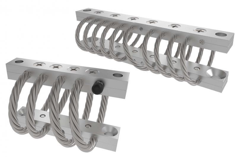 ACE stellt Konstrukteuren die neuen Drahtseilfedern mit Kabeldurchmessern von 1,59 mm bis 31,75 mm und zur Montage mit Gewinden von M4x0,7 bis M20x2,5 in verschiedensten Ausführungen sowie auch in kurzer Bauform zur Verfügung