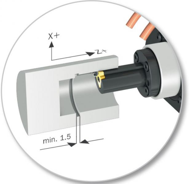 Durch einfaches 180-Grad-Umsetzen des Klemmhalters ist die WTO Stoßeinheit für das Innen- und Außenstoßen einsetzbar: - mit bis zu 1.000 Hüben pro Minute - 32 mm nutzbarer Stoßlänge - 10 mm max. Nutenbreite bei einem maximalen Vorschub von 0,15 mm/Hub.