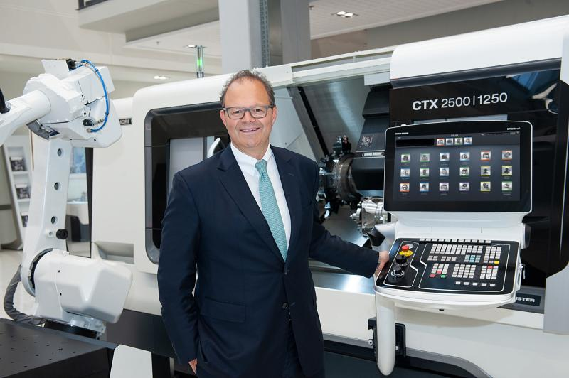 "Green manufacturing: ""Climate protection concerns each and every one of us. Technological leadership and environ- mental protection go hand in hand. DMG MORI therefore takes on complete responsibility,"" says Christian Thönes, Chairman of the Executive Board of DMG MORI AKTIENGESELLSCHAFT."