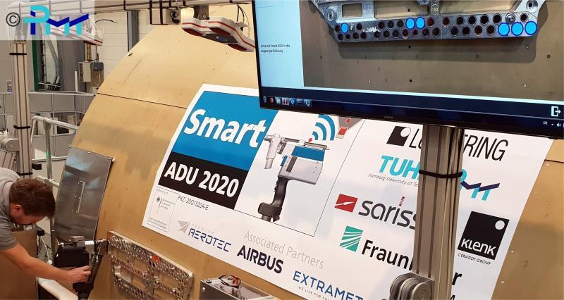 Abgebildet ist ein Ausschnitt aus der Abschlusspräsentation des vom BMWi geförderten LuFo V-2 Projekts SmartADU2020, in dessen Rahmen die Bachelorarbeit von Hr. Bender entstand.