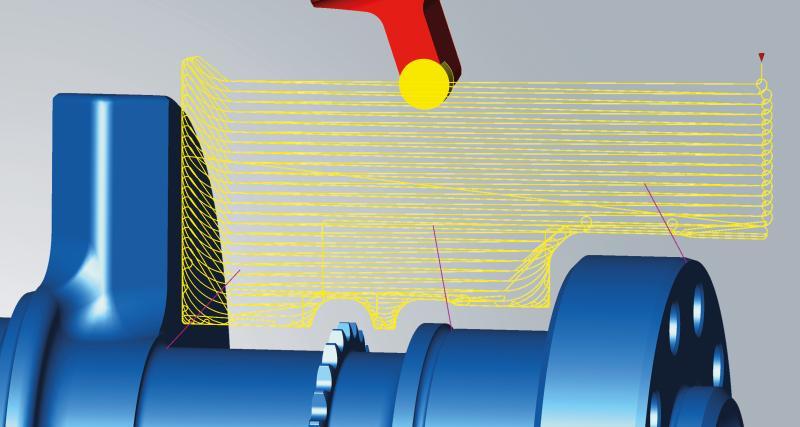 Einfach High-Performance-Werkzeugbahnen mit optimierten An- und Abfahrbewegungen während des Simultandrehens nutzen.
