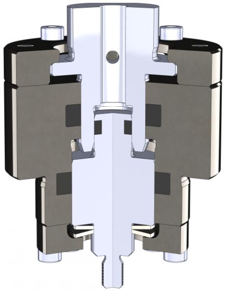 Erfolgreicher Abschluss des KEKS-Projekts. KEKS steht hier für Kompakte Einheit zur Kostengünstigen Stempelanpassungsgeschwindigkeit.  Blechhalbzeuge werden häufig in Folgeverbundwerkzeugen verschiedenen Prozessschritten (Schneiden, Biegen, Prägen) nacheinander unterzogen. Da die einzelnen Prozessstufen mechanisch miteinander verbunden sind, arbeiten alle Werzeuge mit der gleichen Geschwindigkeit. Die Gesamtgeschwindigkeit wird folglich durch den langsamsten Schritt bestimmt. Ein Kompromiss, der in der Regel zu Lasten der Ausbringungsrate und der Qualität geht.  Dieser Herausforderung widmete sich ein Forscherteam am utg. Im Rahmen eines zweijährigen, von der EFB finanzierten Projekts wurde untersucht, wie die Stempelgeschwindigkeit einzelner Aktivelemente gezielt an die verfahrensspezifisch optimale Geschwindigkeit angepasst werden kann.  Mit der Entwicklung und Auslegung des hydraulischen Weg-Geschwindigkeits-Übersetzers (KEKS) ist eine Geschwindigkeitsreduzierung um bis zu 60 % möglich, wodurch eine erhebliche Qualitätsverbesserung der Umformung für spezifische Anwendungen erreicht werden kann. Damit konnte das Projekt erfolgreich abgeschlossen werden und unser KEKS wurde sogar über die Bayerische Patentallianz GmbH zum Patent angemeldet.