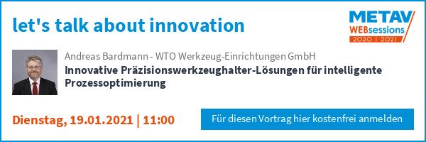 WTO bei den METAV Websession am Dienstag, den 19.01.21 um 11:00