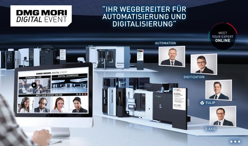 DMG MORI DIGITAL EVENT: Vom 2. bis zum 4. Februar 2021 präsentiert DMG MORI wegweisenden Trends und Entwicklungen der Branche – live, digital und noch interaktiver