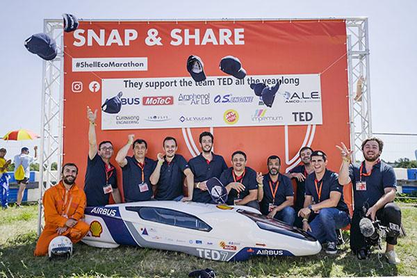 AIRBUS-Team Ted beim Shell ECO Marathon