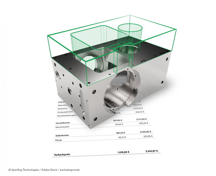 Spanflug analyses the CAD models and technical drawings of components and calculates a price based on the resulting data in just a few seconds.