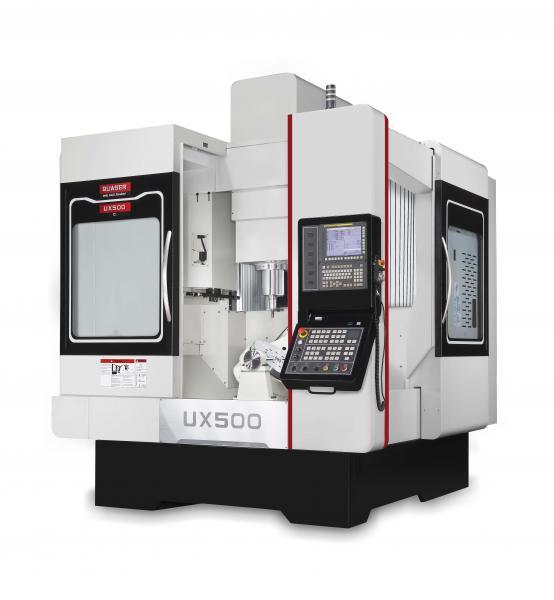 Das 5-Achsen-Bearbeitungszentrum Quaser UX 500 bietet dem Bediener flexible Anwendungsmöglichkeiten, vom manuellen Werkstückhandling bis hin zum Einsatz einer Roboter-Automation.
