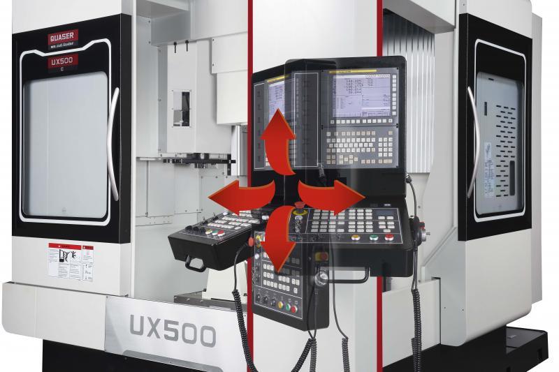 Die beiden über Eck positionierten Türöffnungen und die ergonomische Anordnung der Steuerung bieten dem Bediener der UX 500 ein flexibles Werkstückhandling sowie eine optimale Prozesskontrolle.