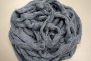 Secondary fibers of torned denim.