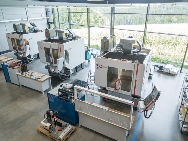Auf den Stand-alone-Maschinen werden Einzelteile und Prototypen gefertigt.