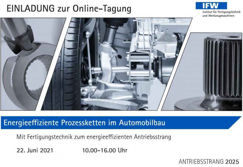 Energieeffiziente Prozessketten im Automobilbau - Onlinetagung am 22. Juni