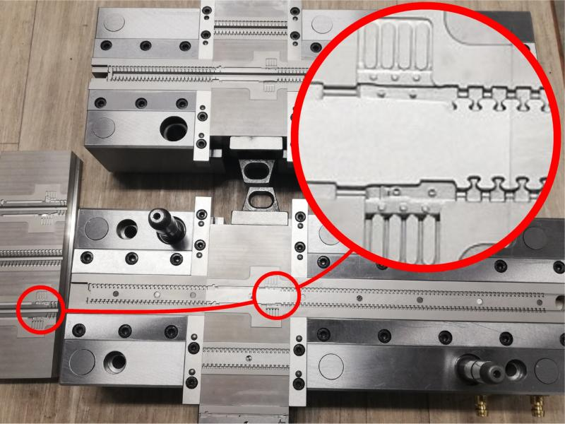 Figure 2: PK0 Injection Mould Tool Designed and Machined with Pictures by PC