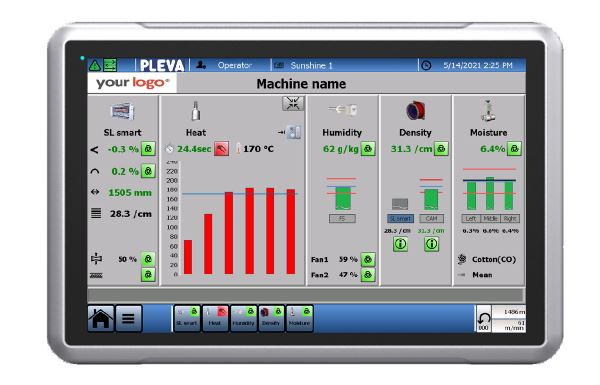 To further enhance the production process, a new customizable user-interface was designed. It displays all important information at one glance, so customers can work more efficiently and stress free.