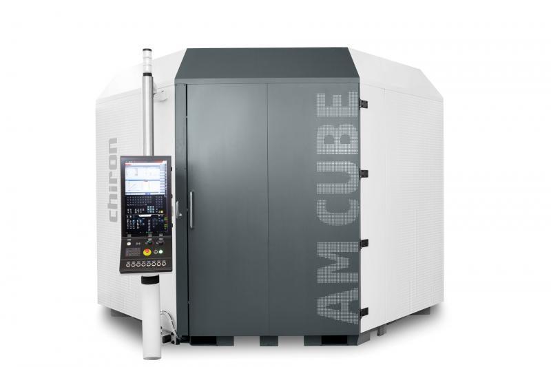3D-Metalldrucker AM Cube: Zentraler Vorteil und ein echter USP ist der automatische Wechsel des Auftragskopfes.