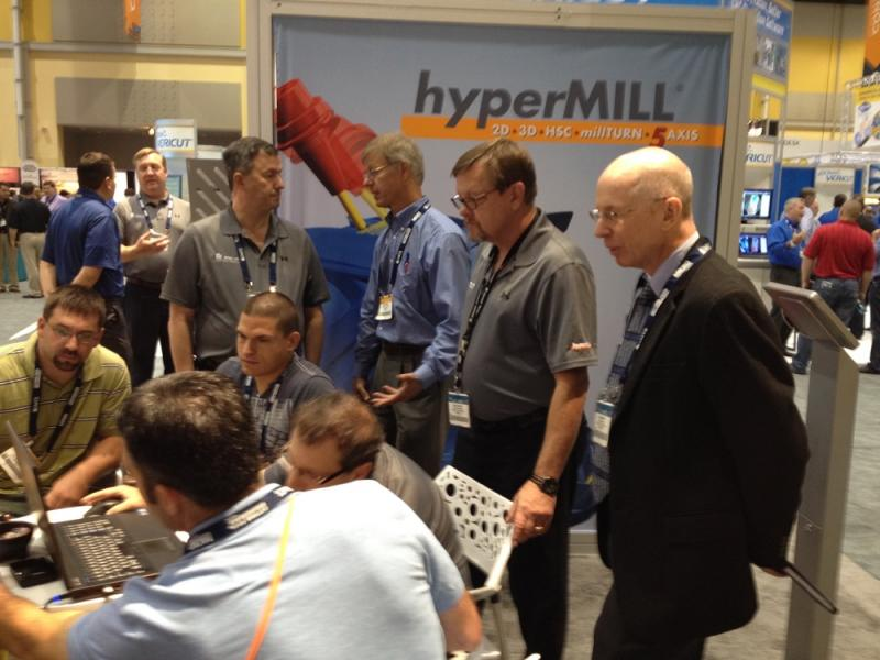 hyperMILL® demo at IMTS. Image source: OPEN MIND