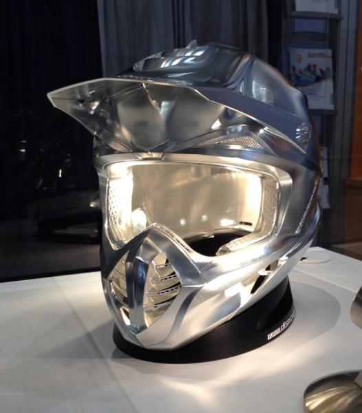 Motorcross helmet: hyperMILL® 5axis machining in top quality. Image source: OPEN MIND