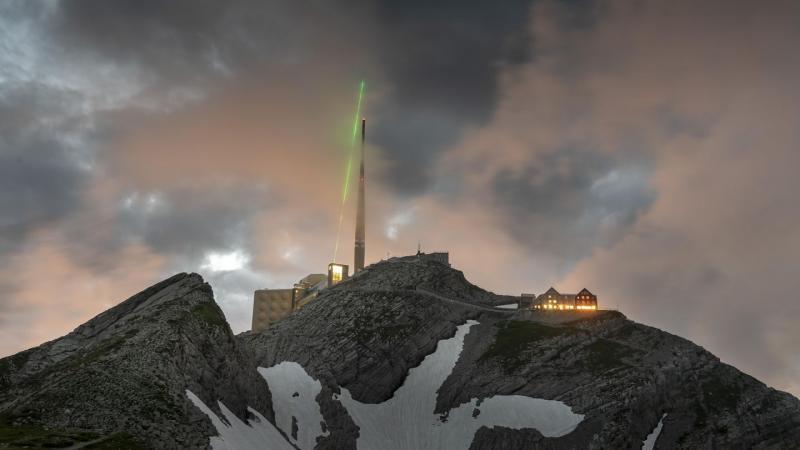 Blitzableiter in Schweizer Alpen