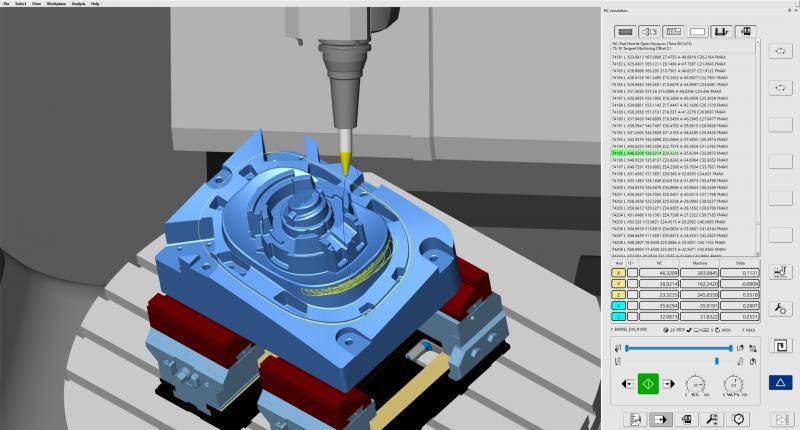 hyperMILL® VIRTUAL Machining Optimizer erzeugt automatisch bestmögliche Verfahrwege zwischen zwei Operationen
