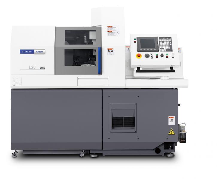 ATC ermöglicht auf der Cincom L20-XII ATC in Verbindung mit der B-Achse über ER 16-Werkzeugaufnahmen die schnelle Nutzung von insgesamt 13 Werkzeugen für die Vorderseitenbearbeitung.