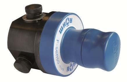 Das Spannkraftmessgerät F-senso chuck ermöglicht schnelles und einfaches Prüfen von Spannkräften an 3-Backenfuttern und Schraubstöcken.