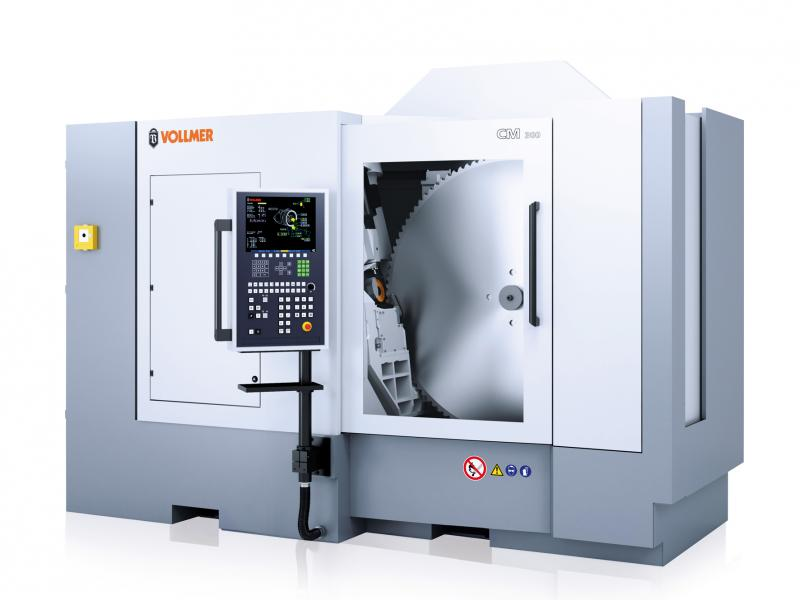 Carbide-tipped metal circular saw blades of up to 1440 millimetres in diameter can be sharpened using the fully automated CM 300 sharpening machine.