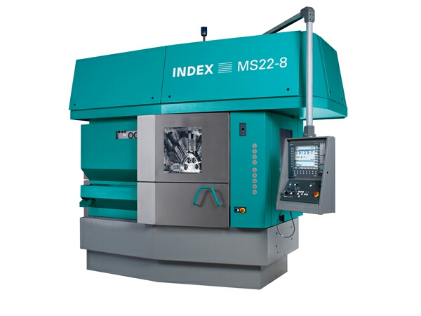 The modular eight-spindle machine built on the multi-spindle modular system can also efficiently machine highly complex workpieces that would have driven the previous multi-spindle lathes normally equipped with six spindles to their limits.
