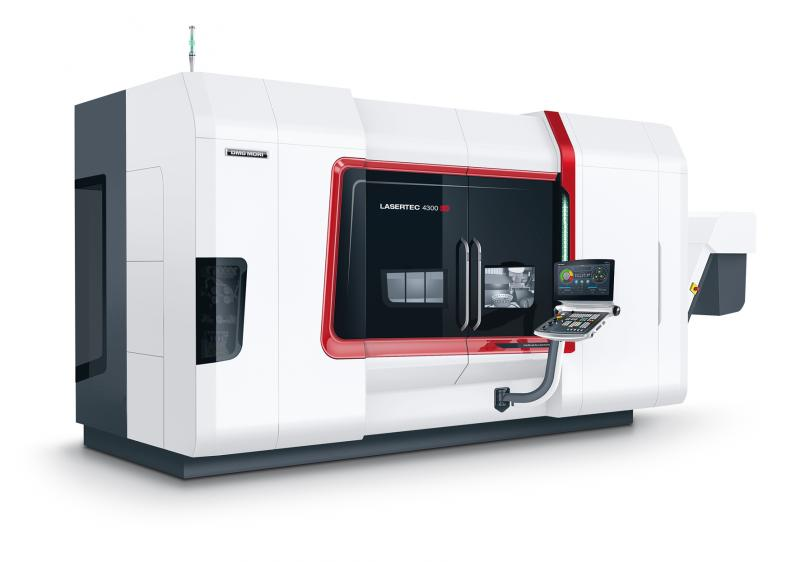 With the LASERTEC 4300 3D DMG MORI offers hybrid machine that incorporates generative Directed Energy Deposition into a fully-fledged 10-axis Turn/Mill machine with a working area of ø 600 mm x 1,500 mm