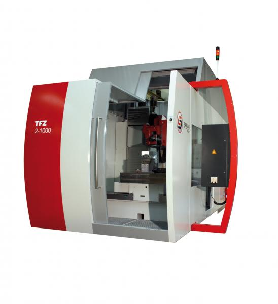 At EuroMold 2014 SAMAG demonstrates the machine safety of the deep-hole drilling and milling centers with the assistance of a TFZ 2-1000