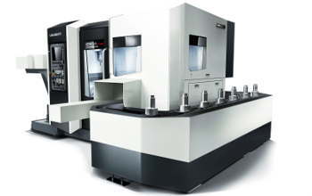 The CTV 315 linear can machine workpieces with diameters of up to 300 mm, 210 mm in height, weighing 25 kg and comes with Operate 4.5 on SIEMENS 840D solutionline.