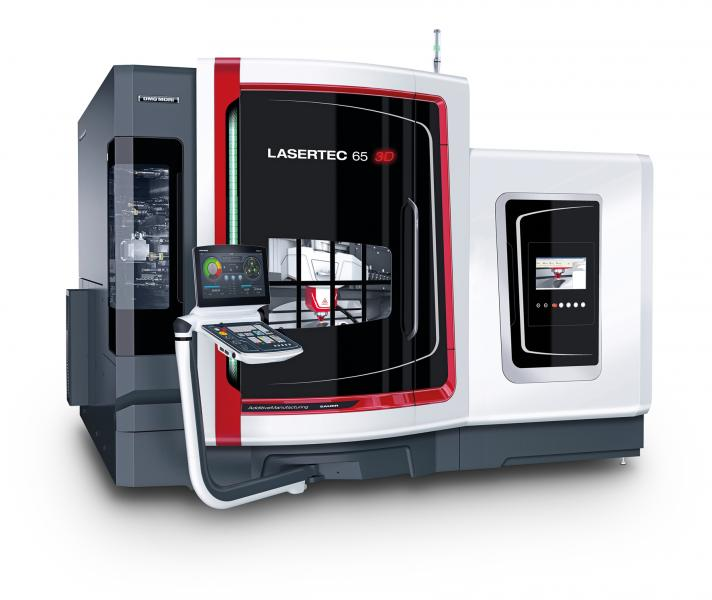 The LASERTEC 65 3D is a unique hybrid machine on the market that incorporates generative laser deposition welding into a fully-fledged 5-axis milling machine.