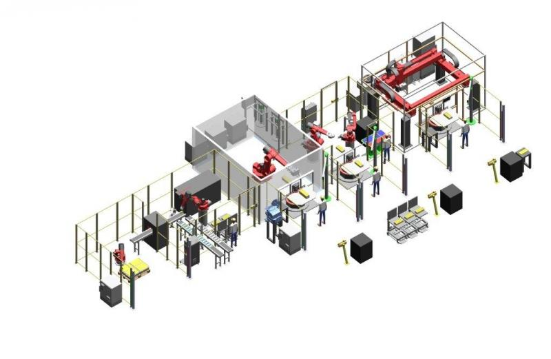 Completely automated battery module production