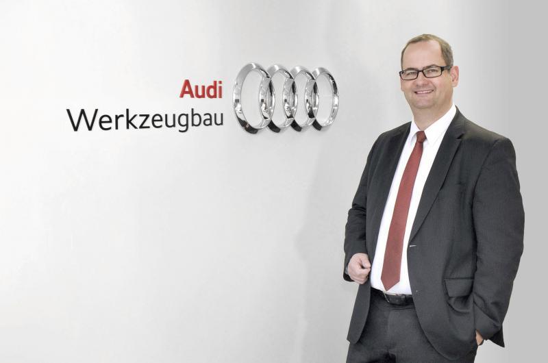 """Michael Breme, Leiter des Audi-Werkzeugbaus: """"Industrie 4.0 wird bei uns gelebt. So findet etwa seit Jahren die Fernwartung unserer Karosseriebauanlagen im Serieneinsatz statt, ebenso die Fernwartung der intelligenten Werkzeuge."""""""