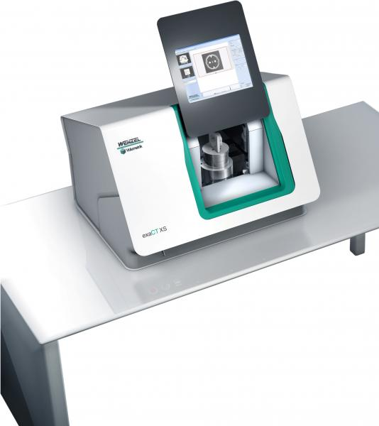 A look inside the component: in Düsseldorf, Wenzel will also be exhibiting innovative solutions from the field of industrial computer tomography (the picture shows a compact desktop CT unit for small plastic components with a low material density).