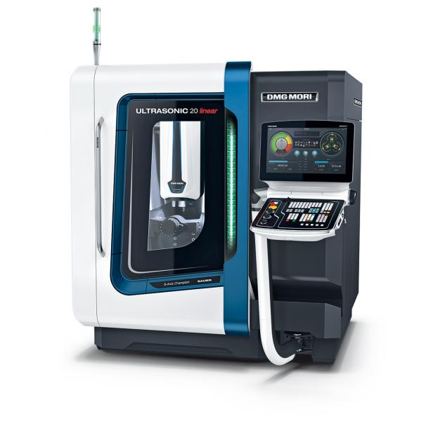 Highly compact 5-axis grinding of advanced materials as well as the latest generation HSC milling
