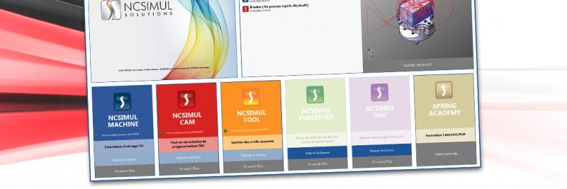New home page to access to NCSIMUL SOLUTIONS modules