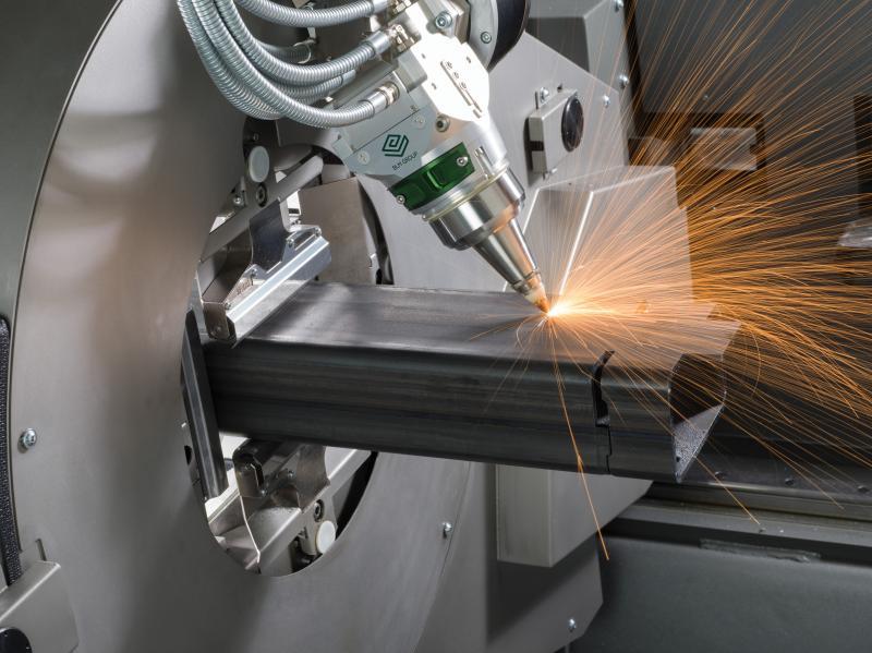 Die komplett neue Lasertube LT08.10: 3D-Faserlaserschneiden ist kein Thema mehr