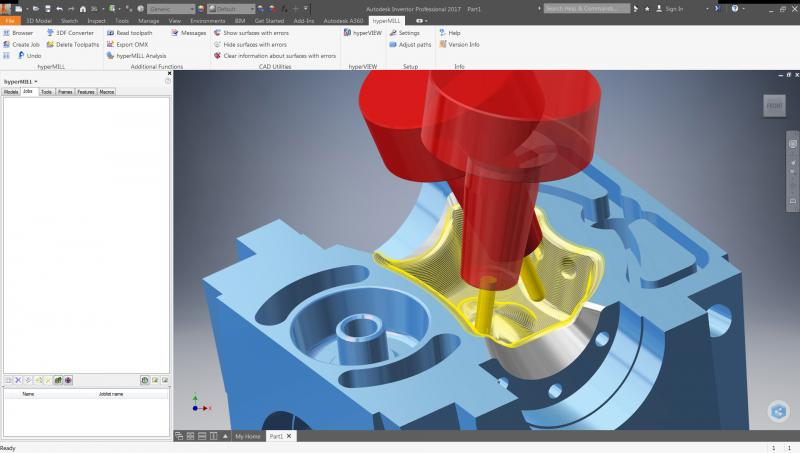 hyperMILL® 2016.2 certified for Autodesk 2017