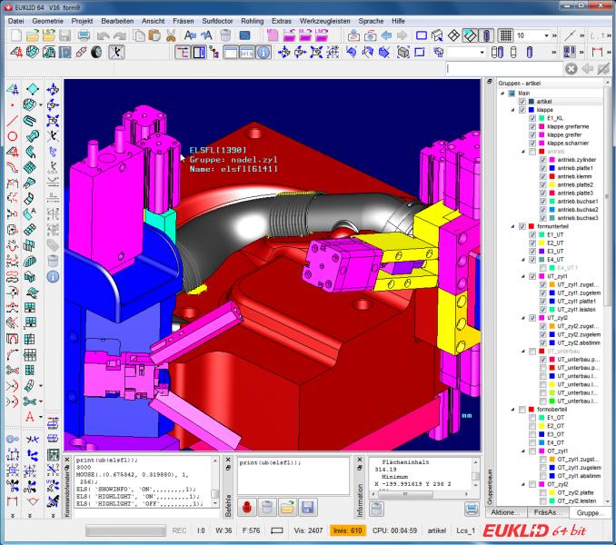 Hier nur mal ein kleiner Ausschnitt von unserer CAD/CAM-Software EUKLID. Für weitere Informationen stehen wir Ihnen sehr gerne jederzeit zur Verfügung!